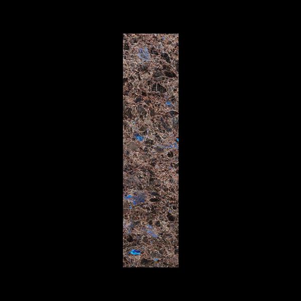Stavflis i brun norsk naturstein med blå feltspatkrystaller